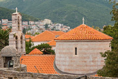 The view of Budva old town Stock Image