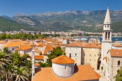 View on Budva old town - Montenegro Stock Photos