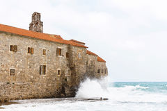 The view of budva old town Stock Images