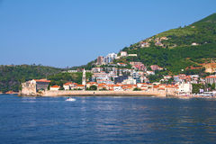 View on Budva from the see. Royalty Free Stock Photo
