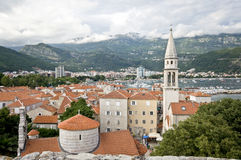 The view of Budva town from the old citadel Royalty Free Stock Photos