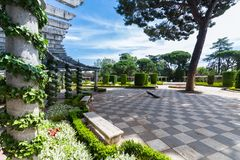 The Buen Retiro Park - Madrid - Spain. A view of the Buen Retiro Park - Madrid - Spain Stock Photography