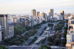 View of Buenos Aires, Argentina, 18th of February of 2017 stock photography