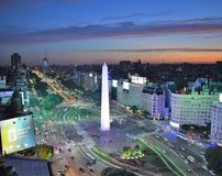 View of Buenos Aires, Argentina, 18th of February of 2017 royalty free stock photos