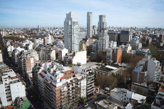 View of Buenos Aires city. Stock Images