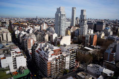 View of Buenos Aires city. Stock Photos
