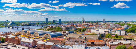 View from building of the Academy of Sciences on old Riga Royalty Free Stock Photos