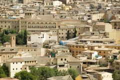 View of building congestion in historic city of Toledo, Spain Royalty Free Stock Images