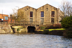 A view of the building at the end of Wigan Pier. Royalty Free Stock Images