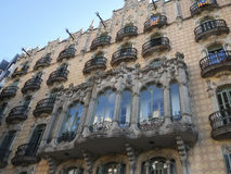 View of a building by Gaudi in Barcelona Stock Image