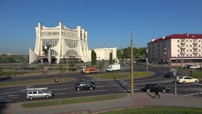 View on the building of the Grodno regional drama theater. Grodno, Belarus
