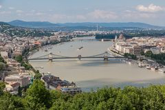 View of a building of the Hungarian parliament Royalty Free Stock Image