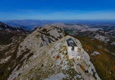 View of the building Njegos Mausoleum in National Park Lovcen, M. Ontenegro Stock Photo