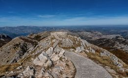 View of the building Njegos Mausoleum in National Park Lovcen, M. Ontenegro Stock Photos