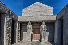 View of the building Njegos Mausoleum in National Park Lovcen, M. Ontenegro Stock Image