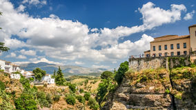 View of a building over cliff in ronda, spain Stock Photography