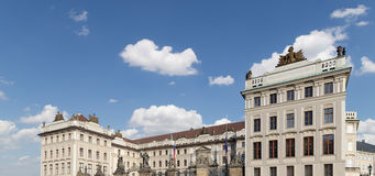 View of the building of the President of the Republic in Prague, Czech republic Stock Image