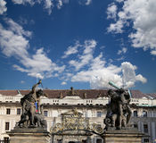 View of the building of the President of the Republic in Prague, Czech republic Stock Photo