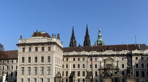 View of the building of the President of the Republic in Prague, Czech republic Stock Photography