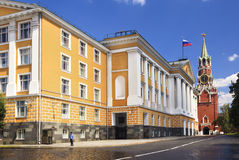 A view of the building of the Russian Presidential Stock Image