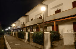 View of building of sanatorium at night Royalty Free Stock Photography