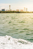 View of building from the sea Royalty Free Stock Photos