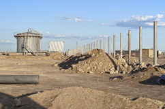 View of a building site. Uranium industry. Royalty Free Stock Photography