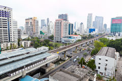 View of building and street on Sathorn road Stock Image