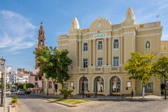 View at the building of Theater in Carmona - Sapin Royalty Free Stock Photography