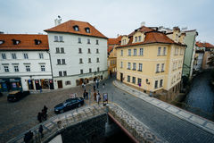 View of buildings along Certovka, in Prague, Czech Republic. Stock Photo