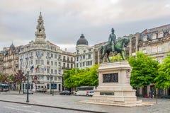 View at buildings in the Avenida dos Aliados - Portugal Royalty Free Stock Photos