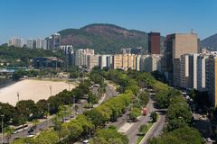 View of Buildings of Botafogo. Skyline view of buildings at Botafogo neighborhood in Rio de Janeiro city, Brazil royalty free stock images