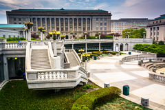 View of buildings at the Capitol Complex in Harrisburg, Pennsylv Stock Image
