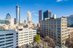 View of buildings in downtown Atlanta, Georgia royalty free stock photography