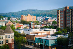 View of buildings in downtown Reading, Pennsylvania. Stock Photo