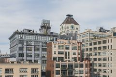 Buildings in Dumbo, Brooklyn, New York, USA. View of buildings in Dumbo, Brooklyn, New York, USA stock image