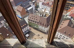View of buildings in Freiburg im Breisgau city, Germany Royalty Free Stock Photos