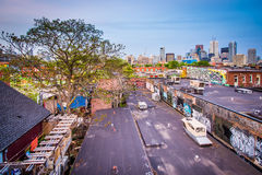 View of buildings in Kensington Market, Toronto, Ontario. Royalty Free Stock Photography