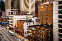 View of buildings on Lombard Street from a parking garage in Bal Royalty Free Stock Photo