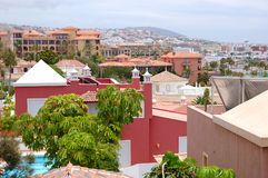 View on the buildings of luxury hotels Royalty Free Stock Image