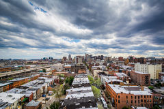 View of buildings in Mount Vernon, Baltimore, Maryland. Stock Photos