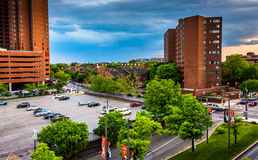 View of buildings near Otterbein from a parking garage in Baltim Royalty Free Stock Image