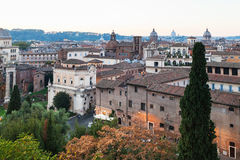 View of buildings of old Rome city from Capitoline Royalty Free Stock Images