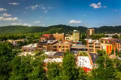 View of buildings from a parking garage in Asheville, North Caro Royalty Free Stock Image
