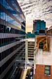 View of buildings from a parking garage in downtown Baltimore, M Stock Images