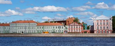View of the buildings of St. Petersburg State University. Saint Petersburg, Russia Stock Photography