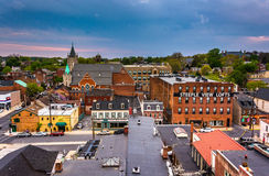 View of buildings and streets from a parking garage in Lancaster Royalty Free Stock Image