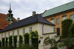 View of the buildings surrounding Det kongelige Biblioteks Have. Copenhagen, Denmark royalty free stock images
