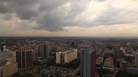 View of the buildings and traffic in Nairobi. Kenya. stock video