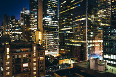 View of buildings in the Turtle Bay neighborhood at night, from Stock Images